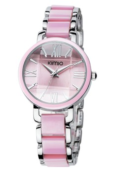 KIMIO Women's Twotone Ceramic Strap Watch K470L