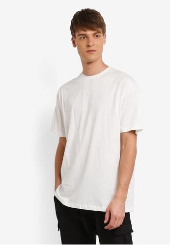 Flesh IMP white Sided Wings Oversized T-shirt FL064AA0RNA9MY_1