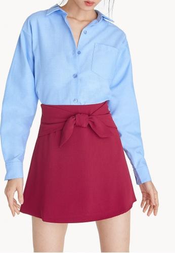 Pomelo pink Mini Front Bow Tie Skirt E425EAA7B2E732GS_1