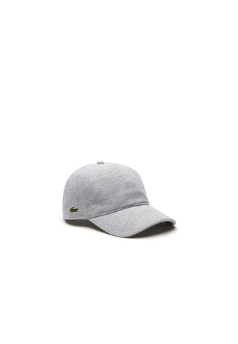 Lacoste silver Men's Cotton Piqué Cap 2834FAC8CAA7E5GS_1