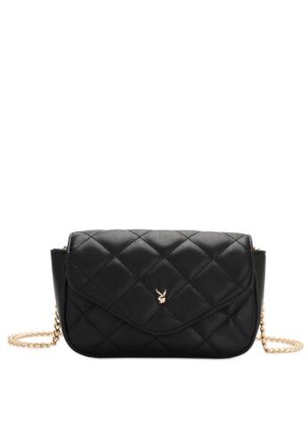 PLAYBOY BUNNY black Women's Sling Bag / Shoulder Bag / Crossbody Bag B0D12ACEA1C906GS_1