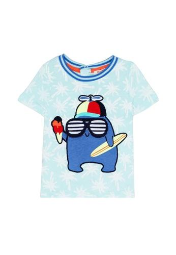 Du Pareil Au Même (DPAM) blue Surf T-Shirt 3034BKA30C7C09GS_1