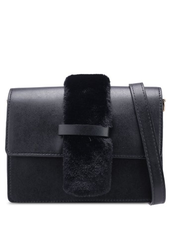Pieces black Leah Crossbody Bag 6F177ACA4EF0FFGS_1