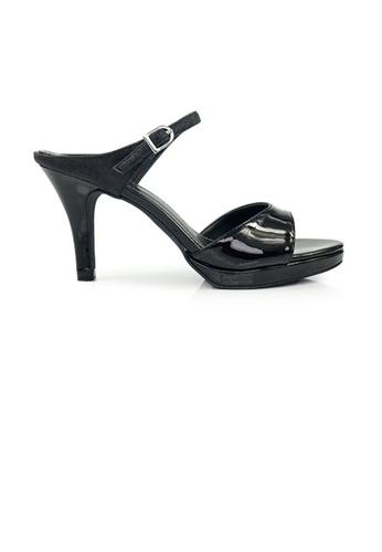 SHINE black SHINE Slip On Open Toe With Glitter Embellished Plantform Heels 608B8SH72EE06BGS_1