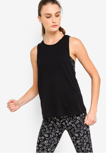 Cotton On Body black Double Twist Back Tank Top F99C5AAC018293GS_1