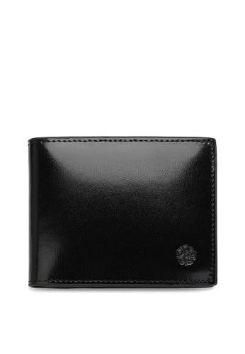 Wild Channel black Faux Leather Short Wallet 891A5AC4D0D027GS_1