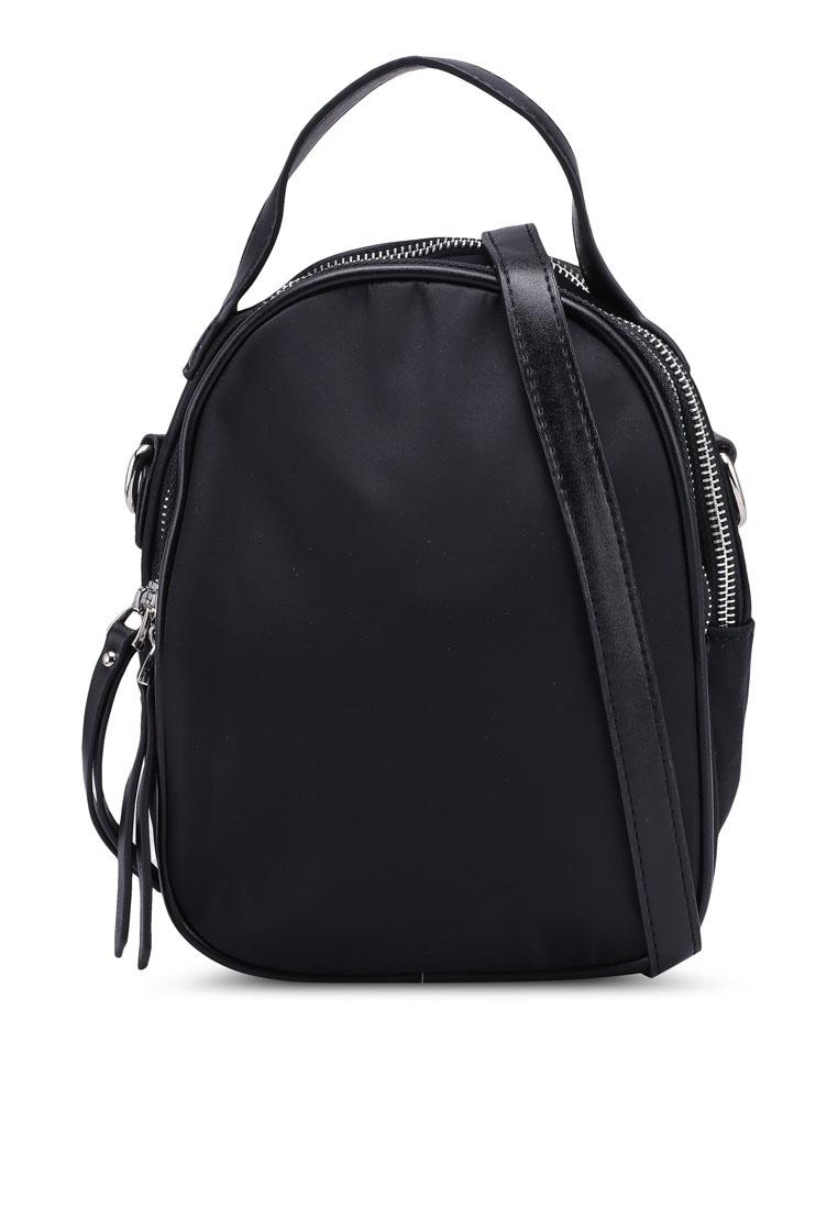 convertible nylon trimmed nuveau friday bag handle black black top