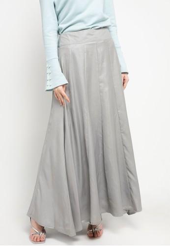 AZZAR silver Jini Skirt 28549AACAFC18DGS_1