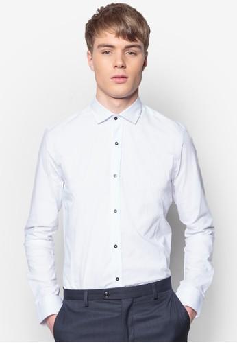 esprit holdings合身長袖襯衫, 服飾, 素色襯衫