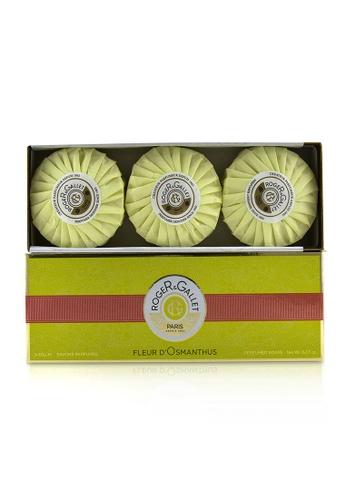 Roger & Gallet ROGER & GALLET - 桂花香氛皂組合Fleur d' Osmanthus Perfumed Soap Coffret 3x100g/3.5oz 8B0A6BEE677457GS_1