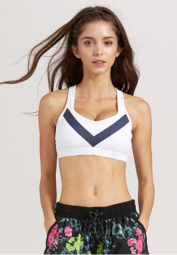 Holabolla white Kelly Cross Strap Sports Bra HO462US0HD9SSG_1