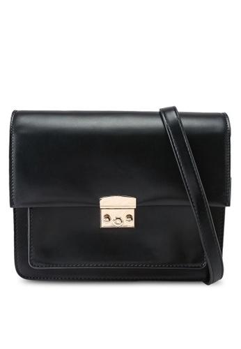 Heather black Faux Leather Crossbody Bag DC4A3AC13280AEGS_1