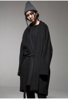 围巾领大衣