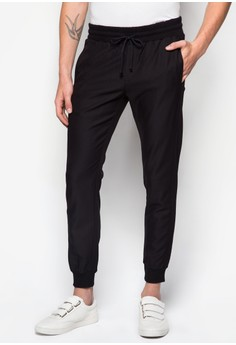 Cotton Twill Pants With Cuffed Hem