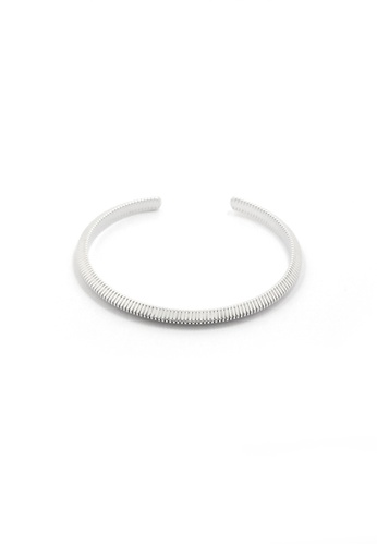 SKEDA silver Ashley Open Metal Cuff Bangle 15120ACFFC5246GS_1