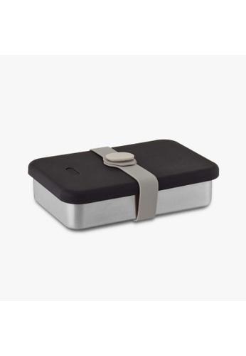 Viida [VIIDA] The Morgen Series Kasten Stainless Steel Lunch Box Bento Set with Leak-proof lid, Black - LFGB Germany, FDA & SGS Certified Safe F16A7HL98CF97DGS_1
