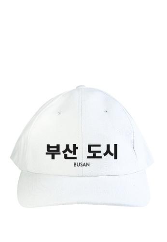 HYPE MNL white Korean Tee Busan Baseball Cap C6F64AC9096F38GS_1