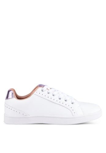 ONLY 白色 休閒金屬感運動鞋 72EC3SHBCC394CGS_1