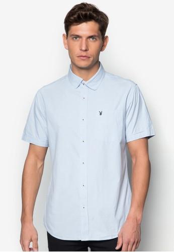 細格esprit台灣官網紋短袖襯衫, 服飾, 服飾