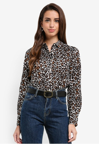 J.Crew brown Cotton Perfect Shirt In Leopard Print 19157AA1FBAED3GS_1