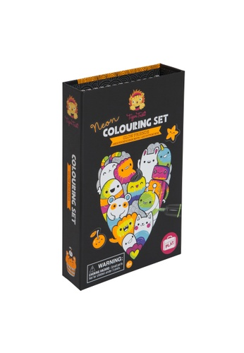 Tiger Tribe Neon Colouring Set - Glow Friends CA44CTHB719D2FGS_1