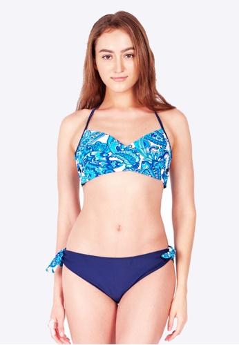 Funfit Crossover Bikini Top in Paisley Print (XS - L) FB080US9C05675GS_1
