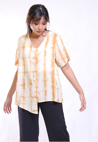 Hardware brown HARDWARE TOP SHIRT FLOWER PRINT 81938AA10DA773GS_1