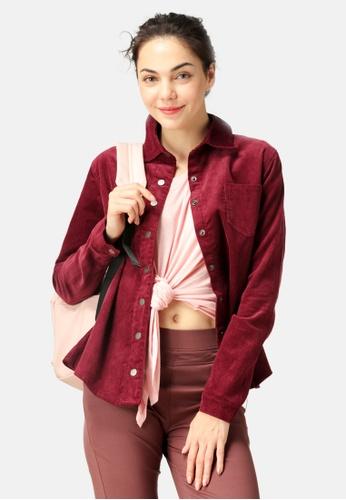 London Rag red Corduroy Shirt 23D37AA5B34117GS_1