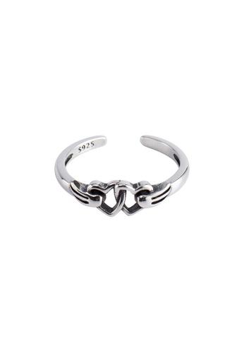 OrBeing 白色 Premium S925 Sliver Heart Ring 0914EACA0702B9GS_1