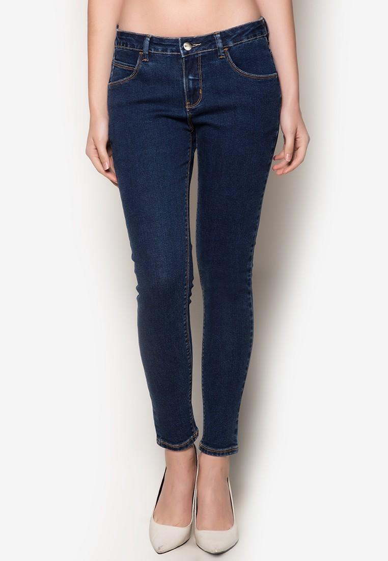 Med Wash 5-Pocket Denim Jeans