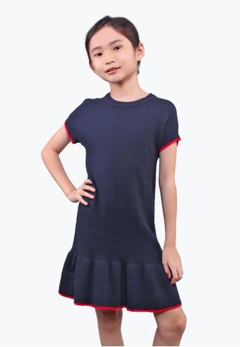 SODA blue Knitted Dress 6630FKA334EFE0GS_1