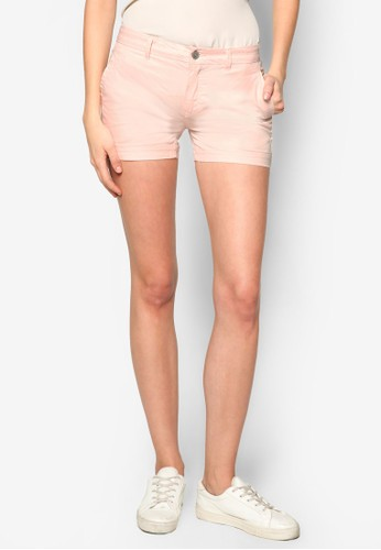 棉質休閒短褲, zalora時尚購物網的koumi koumi服飾, 服飾