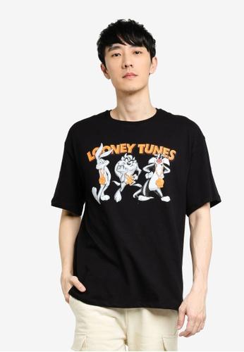 KOTON black Bugs Bunny Man T-Shirt 3D301AA38516BFGS_1