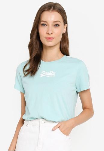 Superdry 綠色 復古LOGO印花T恤 A0E56AAFB239CAGS_1