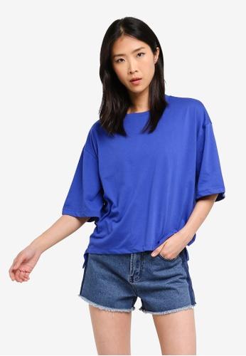 ZALORA BASICS blue Basic Oversized T-Shirt B366CAAF7DC164GS_1