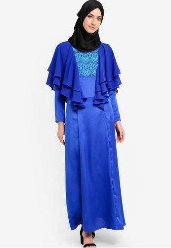 Nuraini blue Jasmeen Jubah NU222AA90IXHMY_1
