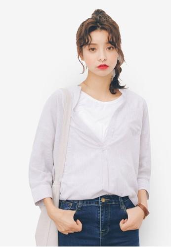 Vesprit hk分店領五分袖襯衫, 服飾, 上衣