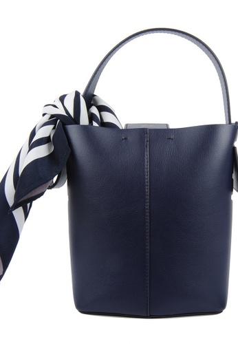 RO Bags navy RO Terranova Felucca Mini Top Handle Bucket Bag in Navy/Light Purple C48BAACC9ADCAAGS_1