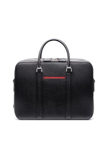 Maverick & Co. Maverick & Co. - Manhattan Double-Zip Leather Briefcase - Black 3D96BACAB4581DGS_1