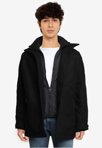 Indicode Jeans black Clark High Collar Coat 8D70FAA55926CEGS_1