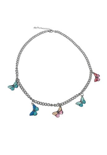 Glamorbit multi Butterfly Multi Colour Necklace 5FE0FACC3B4DBAGS_1