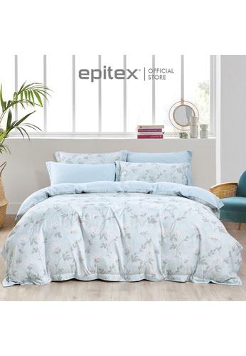 Epitex Epitex 1000TC HS1238 Hybrid Botanic Silk Printed Fitted Sheet Set - Bedsheet (w/o quilt cover) FC80FHL90140C9GS_1