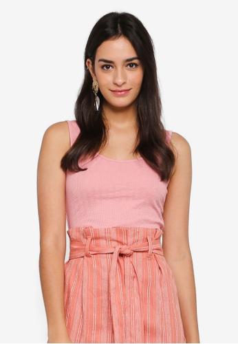 TOPSHOP pink Petite Lula Vest BF0C4AABBBF903GS_1