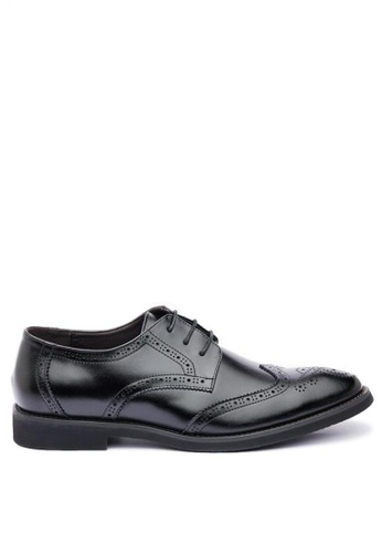Kings Collection black Buchanan Leather Shoes E8B00SHEA5441DGS_1