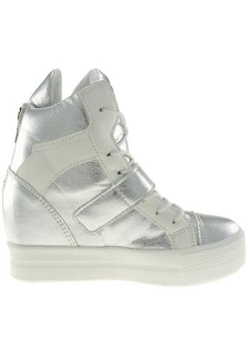 Maxstar / Maxstar Women's C2 Velcro Hidden Heel Suede High Top Sneakers US Women Size / Silver
