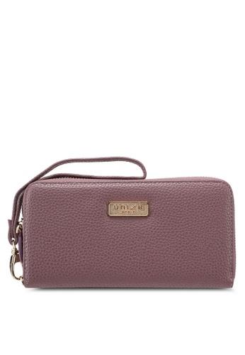 Unisa purple Pebbled Texture Ladies Zip-Up Wallet CDC1BACA406E9EGS_1