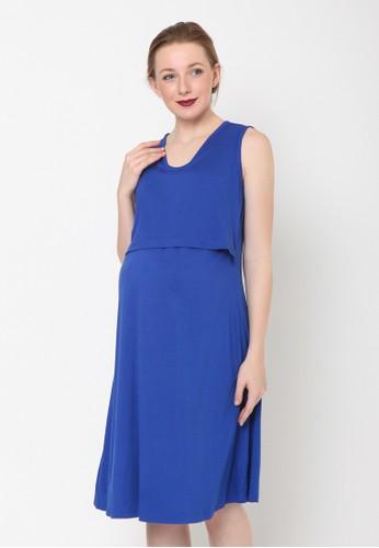 Chantilly blue Chantilly Maternity/Nursing Dress Valeska 56004 8B951AA9DA80E4GS_1