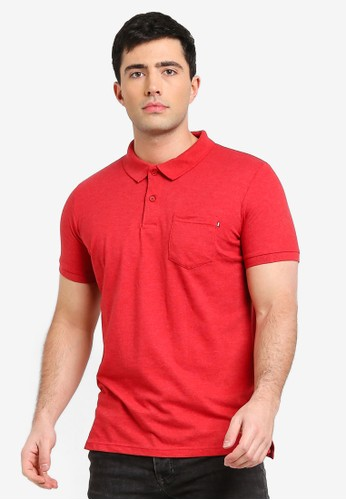 Cotton On red Icon Polo Shirt 7285CAAA26C518GS_1