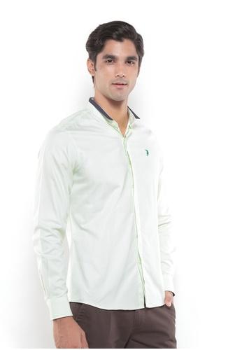 POLO HAUS multi Polo Haus - Men Woven Shirt (Green/Blue) PO783AA77YRQMY_1