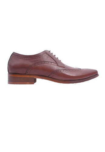 Hanson Bootmaker brown Hanson Bootmaker LacEasy Derby with Wingtips- Brown 388EBSH6C830B4GS_1